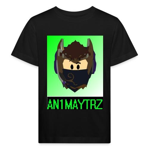 AN1MAYTRZ logo + title - Kids' Organic T-Shirt