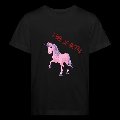 J'aime le metal - T-shirt bio Enfant