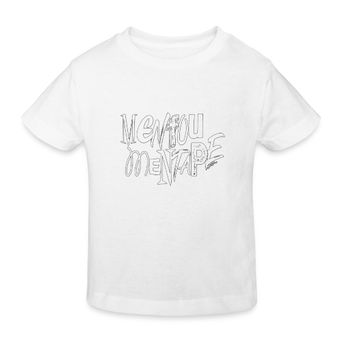 MENFOUMENTAPE blanc et noir by Alice Kara - T-shirt bio Enfant
