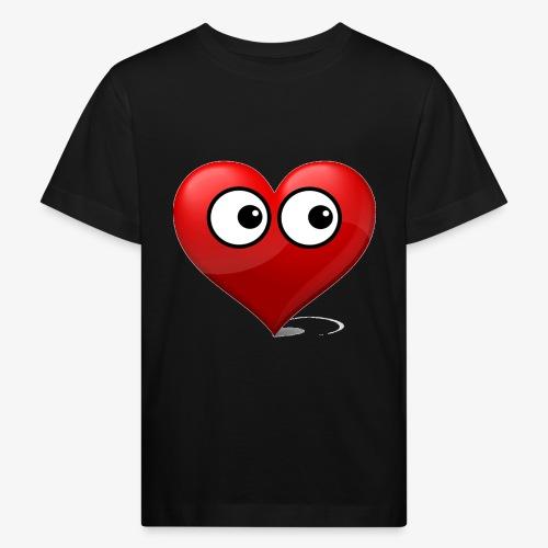 cœur avec yeux - T-shirt bio Enfant