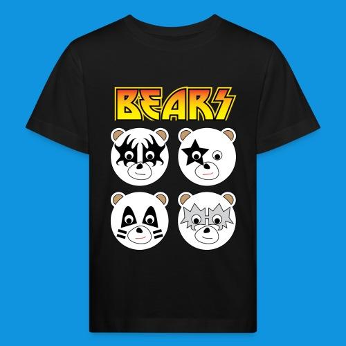 Kiss Bears square.png - Kids' Organic T-Shirt