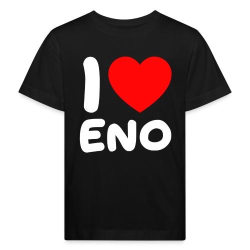 I love Eno / valkoinen - Lasten luonnonmukainen t-paita