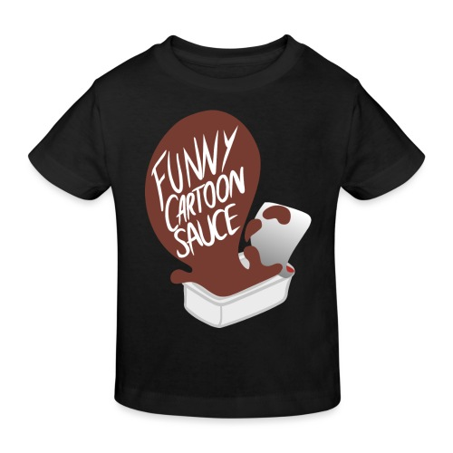 FUNNY CARTOON SAUCE - FEMALE - Kids' Organic T-Shirt