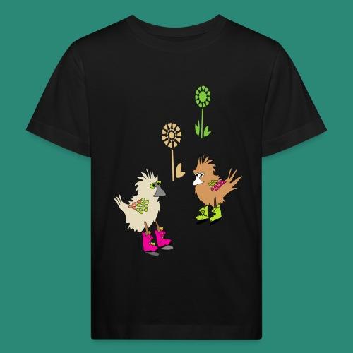 bunte vögel,Colorful birds - Kinder Bio-T-Shirt