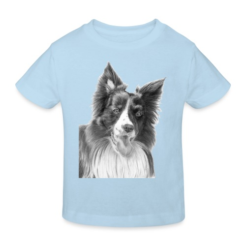 border collie 3 - Organic børne shirt