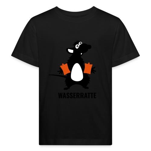Wasserratte mit Schwimmflügeln - Kinder Bio-T-Shirt