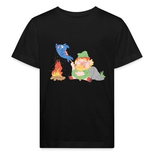 Gegrillter Fisch - Kinder Bio-T-Shirt