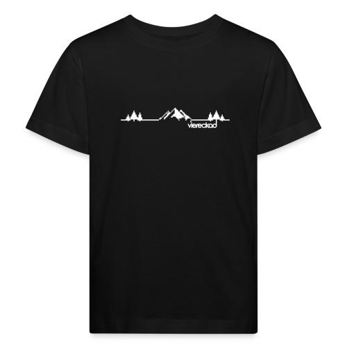 Bergpanorama - viereckad - Kinder Bio-T-Shirt