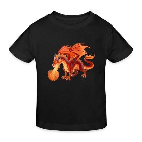 fire dragon - Kinder Bio-T-Shirt