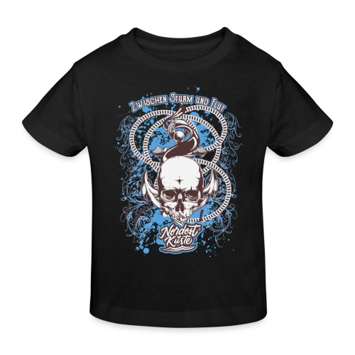 Skull Anker Design Art - Kinder Bio-T-Shirt