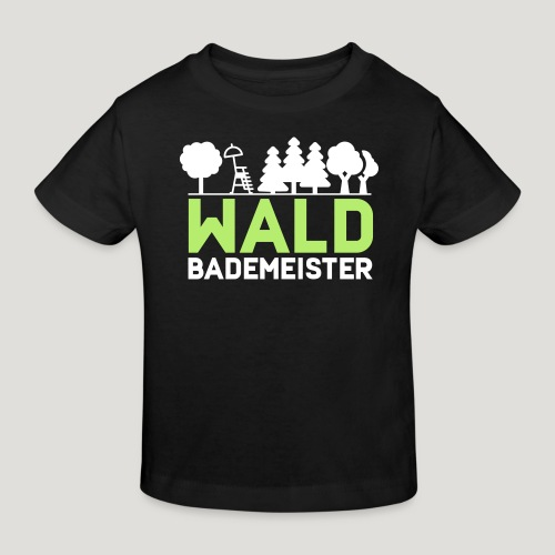 Waldbademeister für das Waldbaden im Waldbad - Kinder Bio-T-Shirt