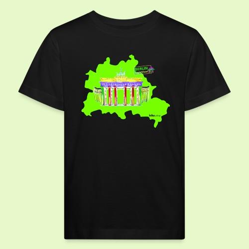 Berlin ist grün und bunt / BerlinLightShow - Kinder Bio-T-Shirt