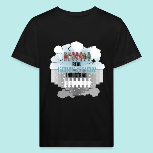 Real Education vs. Industrial Education - Camiseta ecológica niño