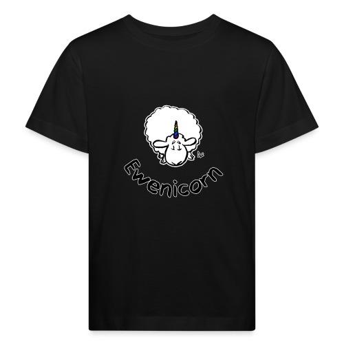 Ewenicorn (schwarze Ausgabe schwarzer Text) - Kinder Bio-T-Shirt