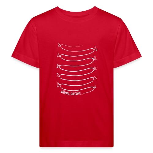 Wiener Illusion (weiß auf schwarz) - Kinder Bio-T-Shirt
