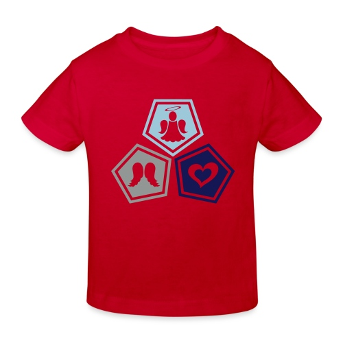 Tee shirt baseball Enfant Trio ange, ailes d'ange - Kids' Organic T-Shirt
