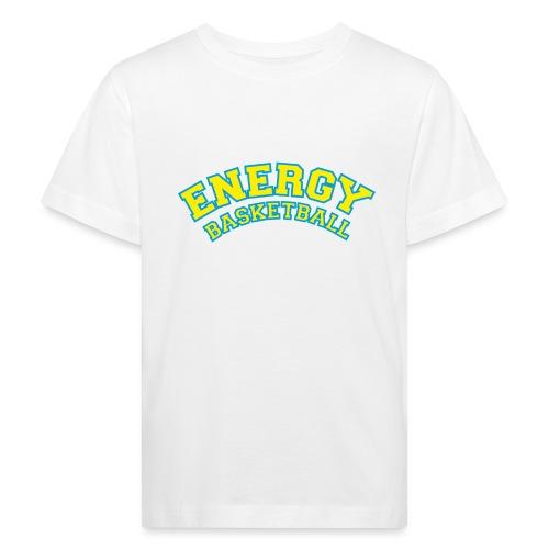 eco logo energy basketball giallo - Maglietta ecologica per bambini