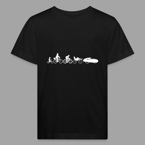 Bicycle evolution white - Lasten luonnonmukainen t-paita