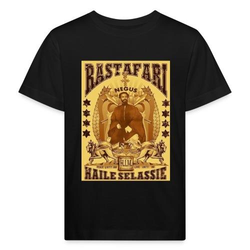 Rastafari Haile Selassie Reggae Roots JahBless - Kinder Bio-T-Shirt