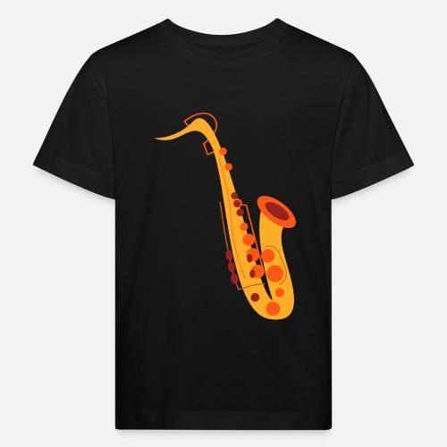 Goldenes Saxophon - Kinder Bio-T-Shirt
