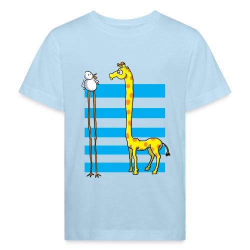La girafe et l'échassier - T-shirt bio Enfant