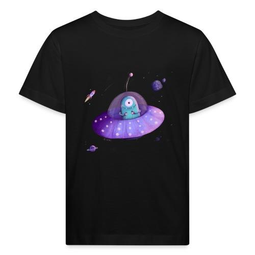 Alien im Raumschiff - Kinder Bio-T-Shirt
