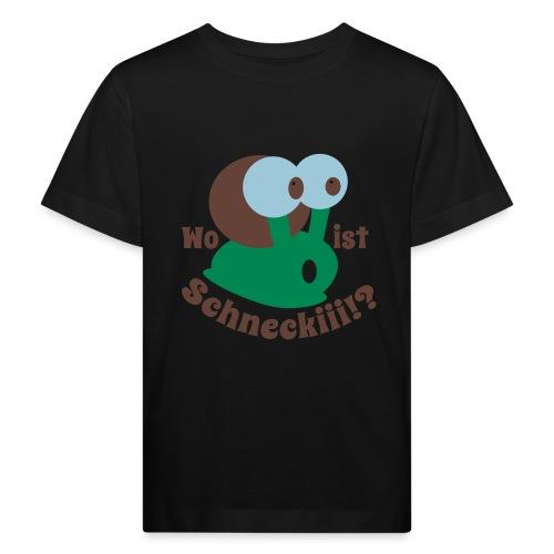 Wo ist Schnecki?! - Kinder Bio-T-Shirt