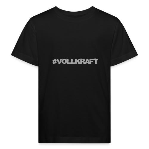 Vollkraft Schriftzug grau - Kinder Bio-T-Shirt