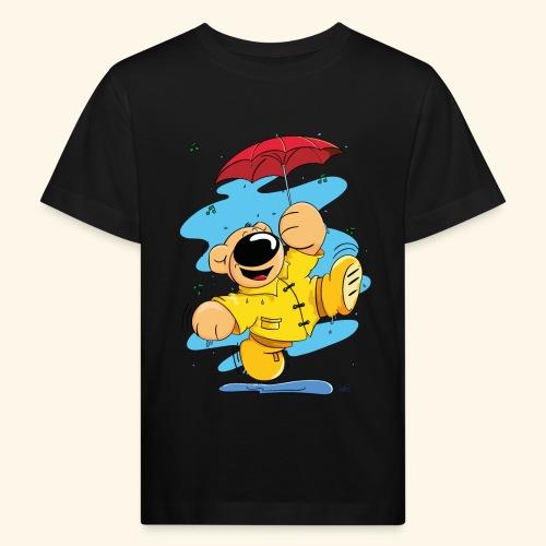 Der Bär tanzt im Regen - Kinder Bio-T-Shirt