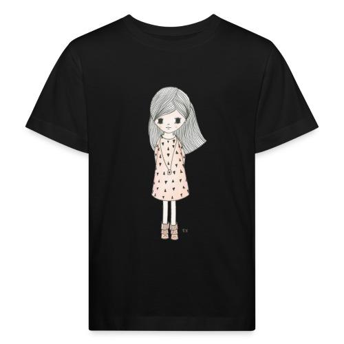 meisje met roze jurk - Kinderen Bio-T-shirt