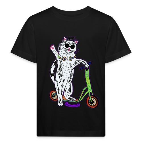 Chat Trottinette - Kinder Bio-T-Shirt
