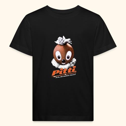 Pittiplatsch 3D Ach, du meine Nase auf dunkel - Kinder Bio-T-Shirt