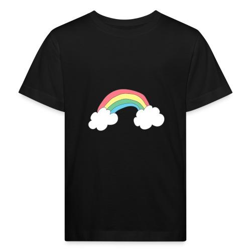 Regnbue - børnetegning - Organic børne shirt