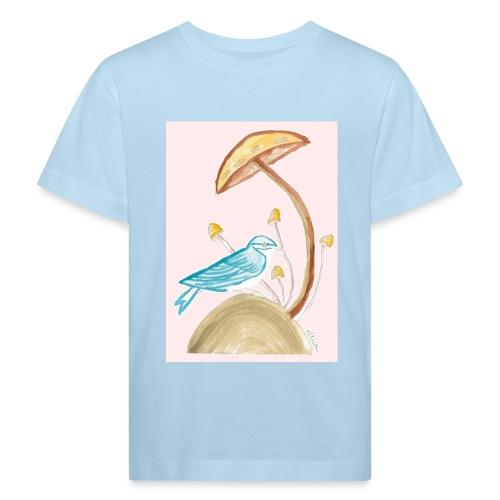 fungo con uccello - Maglietta ecologica per bambini