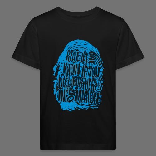Fingerprint DNA (blue) - Kinder Bio-T-Shirt