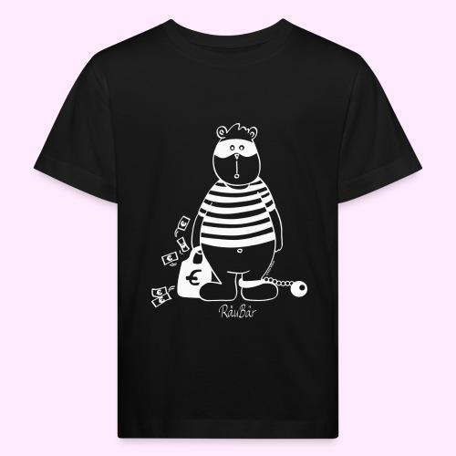 T-Shirt Bio schwarz RäuBär - Kinder Bio-T-Shirt