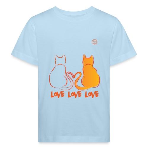 The Red Twins LOVE LOVE LOVE - Maglietta ecologica per bambini
