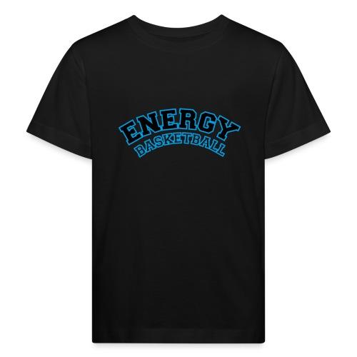 baby energy basketball logo nero - Maglietta ecologica per bambini