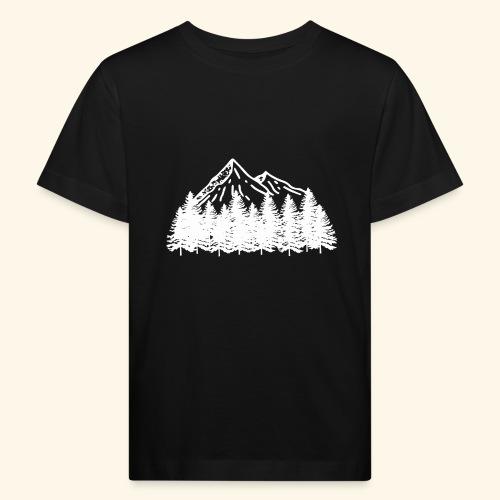 Bergliebe in weiß - Kinder Bio-T-Shirt