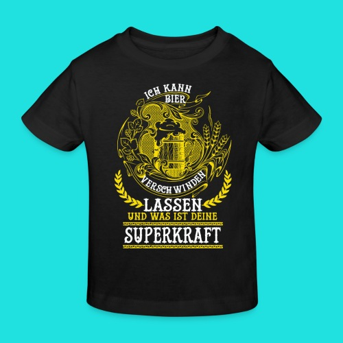 Bier Superkraft - Kinder Bio-T-Shirt