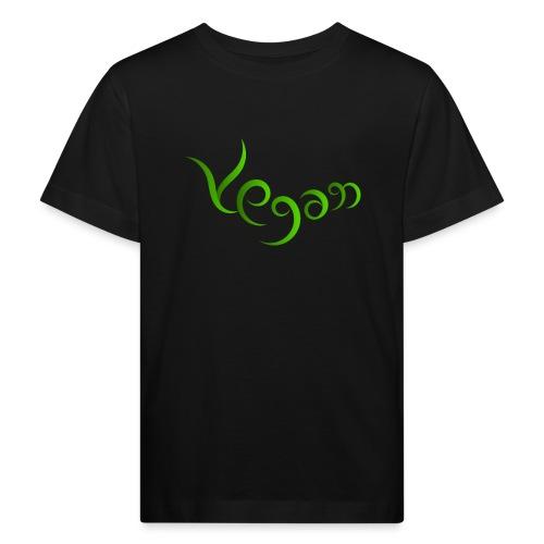 Vegaani käsinkirjoitettu design - Lasten luonnonmukainen t-paita
