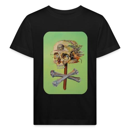 oil painting of skull and bones - Kinderen Bio-T-shirt