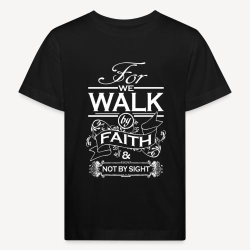 walk white - Kids' Organic T-Shirt
