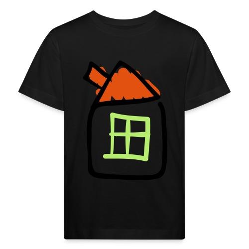 House Line Drawing Pixellamb - Kinder Bio-T-Shirt