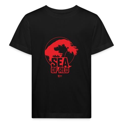 Sea of red logo - red - Kids' Organic T-Shirt