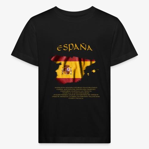 Spanische Flagge - Kinder Bio-T-Shirt