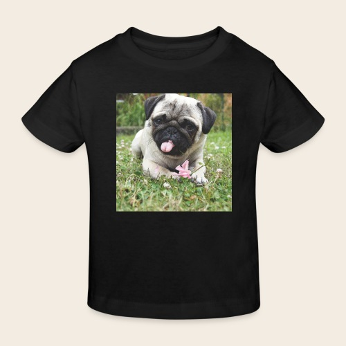 Mops Wiese - Kinder Bio-T-Shirt
