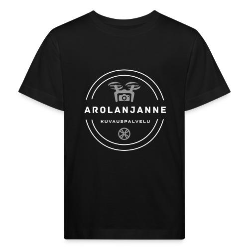 Janne Arola valkoinen - kuva edessä - Lasten luonnonmukainen t-paita