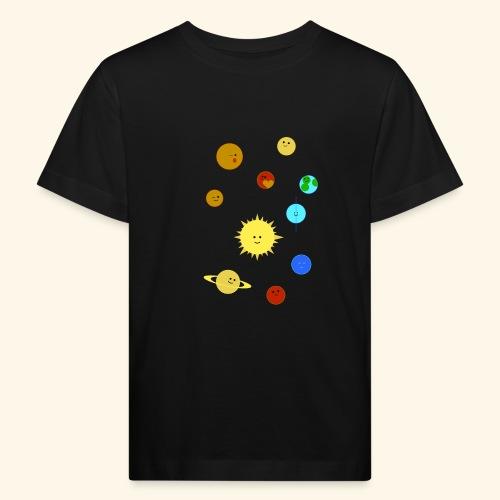 Solsystem svart - Ekologisk T-shirt barn