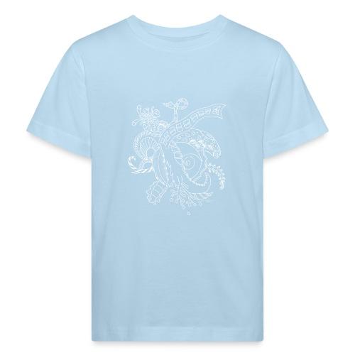 Fantasia valkoinen scribblesirii - Lasten luonnonmukainen t-paita